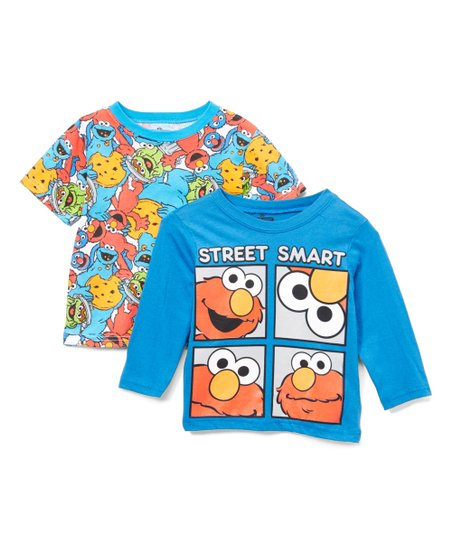 Children's Apparel Network Sesame Street Blue 'Street Smart' Tee Set -  Toddler