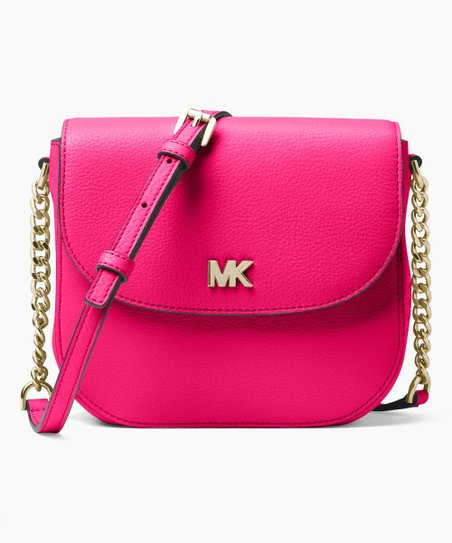 b8d70f32c736 Michael Kors Ultra Pink Mott Pebbled Leather Dome Crossbody | Zulily