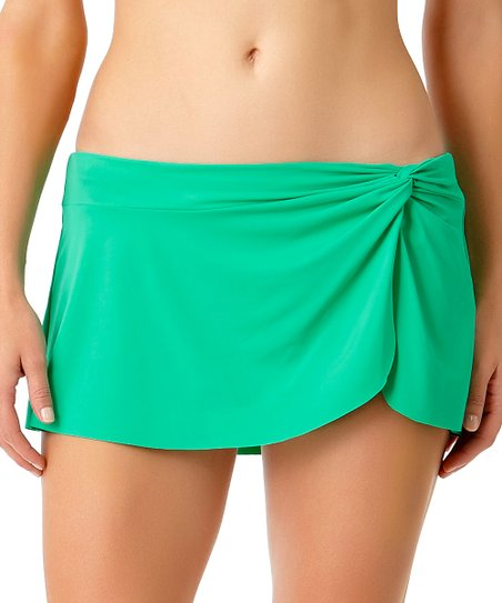 692c49f360b Anne Cole Jade Knot-Front Swim Skirt - Women | Zulily