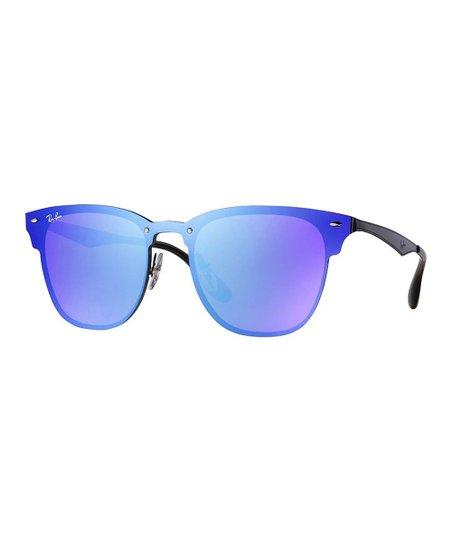 076b34a7c8 love this product Blue   Black Blaze Clubmaster Square Sunglasses - Unisex