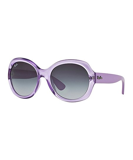 2acf198ea86 Ray-Ban Lilac   Gray Gradient Highstreet Round Sunglasses