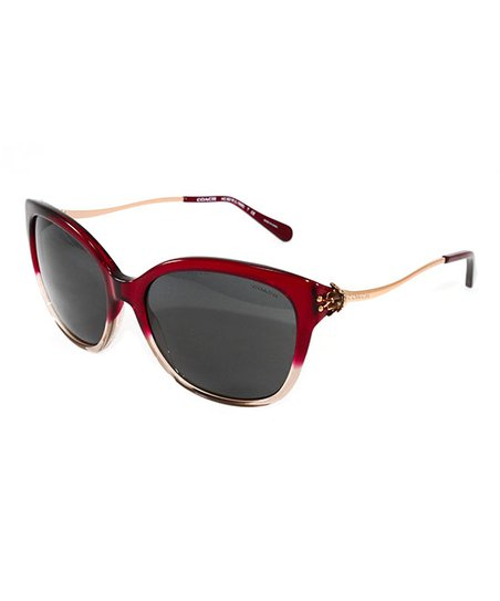 8d9508c9dc12 love this product Red & Gray Gradient Cat-Eye Sunglasses