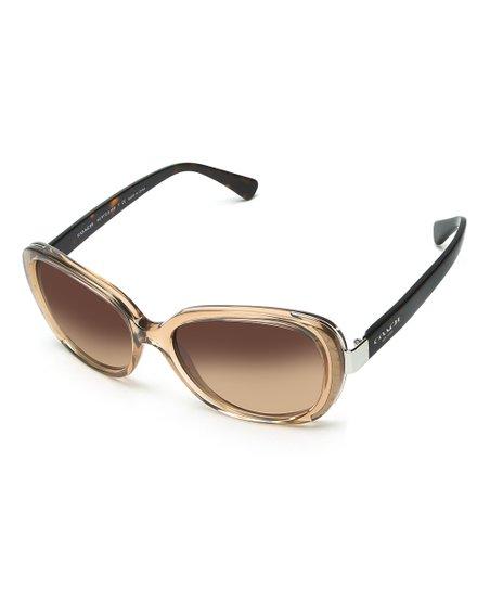 bc6d7586c9577 Coach Light Brown   Dark Tortoise Cat-Eye Sunglasses