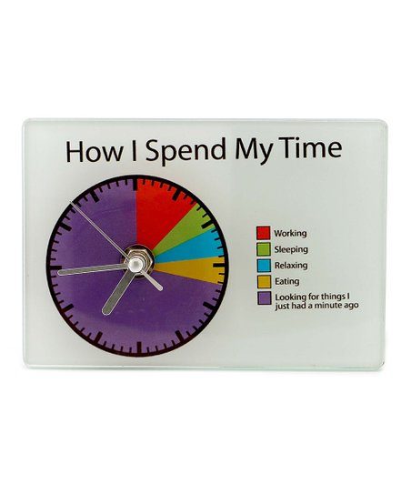 Our Name Is Mud How I Spend My Time Pie Chart Clock Zulily