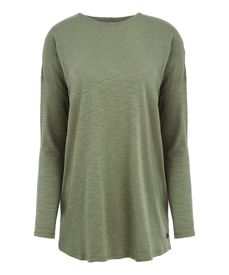 cc1e58fdb65d5a love this product Spanish Moss Balance Relaxed-Fit Organic Cotton Long-Sleeve  Tee - Women