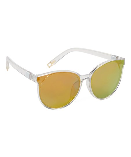 12d1bfdec21e love this product Transparent Mirrored Cat-Eye Sunglasses