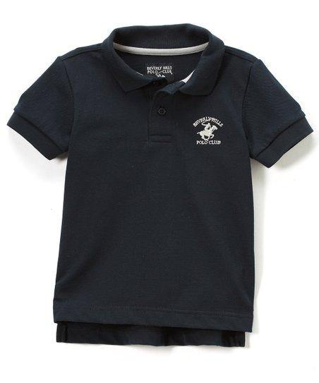 444eafed1b7e Beverly Hills Polo Club Black Piqué Polo - Boys | Zulily
