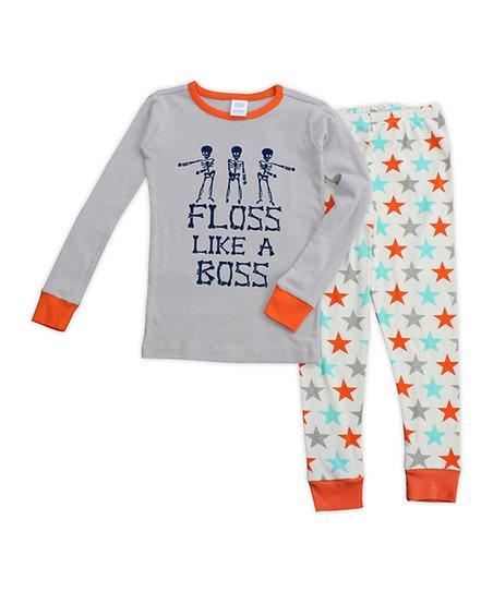 965c1cc0ad love this product Aqua   Orange  Floss Like a Boss  Skeleton Pajama Set