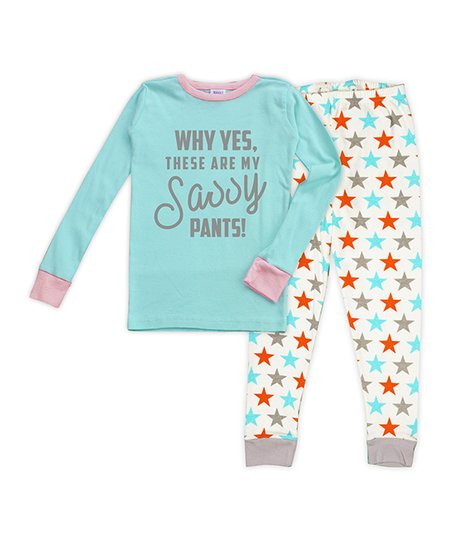 love this product Aqua   Light Pink  Sassy Pants  Stars Pajama Set - Toddler    Girls 6f50cdc7e