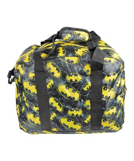 3c5069f976 BB Designs Batman Black   Yellow Logo Duffel Bag