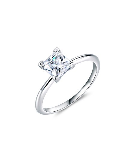 love this product Silvertone Princess-Cut Ring With Swarovski® Crystals 828e966d5