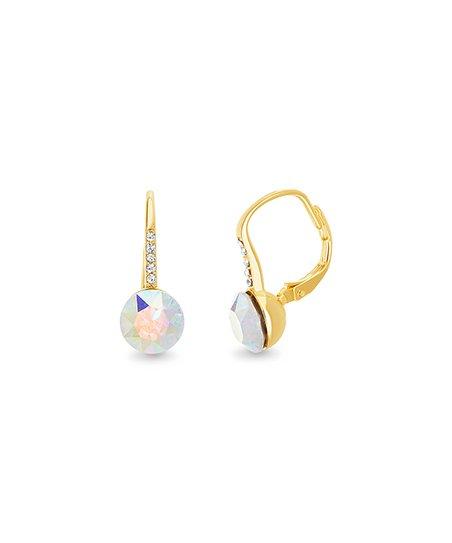 46681ec3c Lesa Michele Aurora Borealis Round Leverback Earring With Swarovski ...