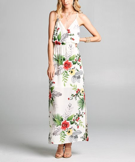 1276e02753 love this product White Floral Wrap Dress - Women