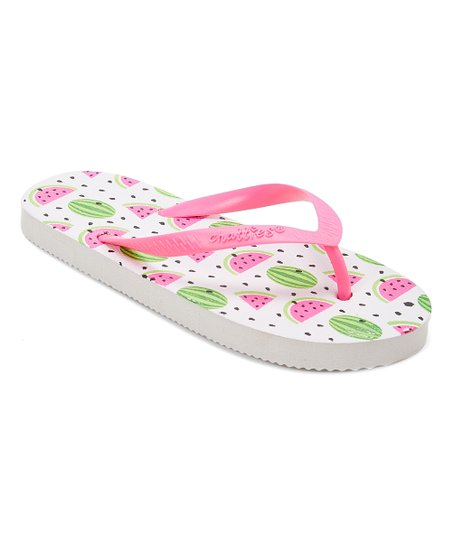 2adbbb87d990 love this product White Watermelon Flip-Flop - Girls