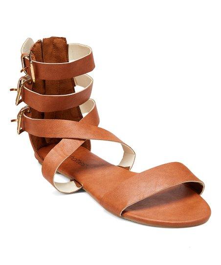 bf42b4c0d5fe Chatties Cognac Buckle Gladiator Sandal - Women