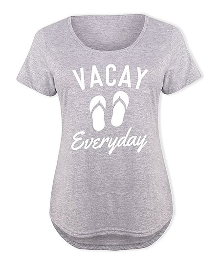 954143887 LC trendz Plus Athletic Heather Vacay Everyday Flip-Flop Scoop Neck ...