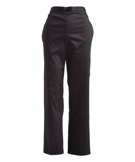 Alfred Dunner Black Pocket Pull On Crop Pants Women Petite Plus
