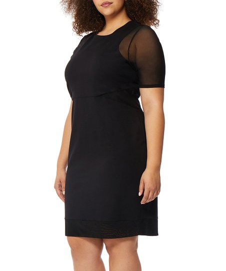 Rebel Wilson X Angels Black Mesh Sleeve Bodycon Dress Plus Zulily