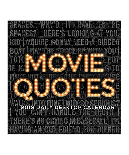 Tf Publishing Movie Quotes 12 Month 2019 Daily Desk Calendar Zulily