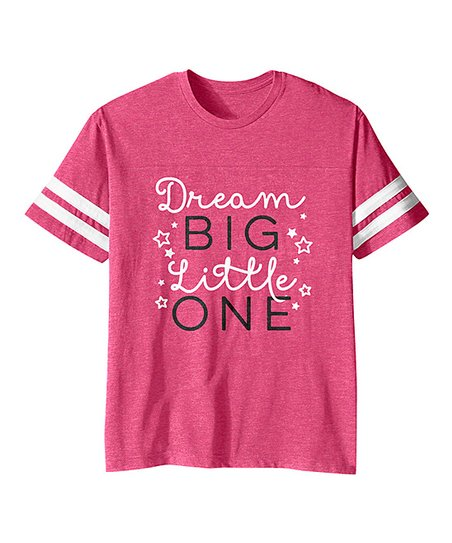 cb0bce041 love this product Vintage Hot Pink 'Dream Big Little One' Football Tee -  Toddler & Girls