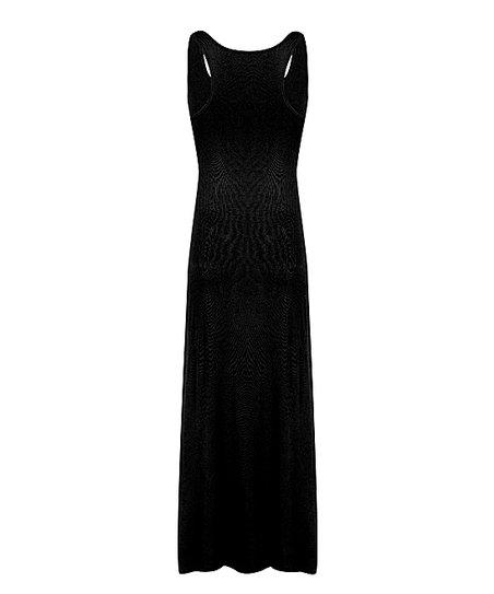 Haoduoyi Black Racerback Maxi Dress Women Zulily