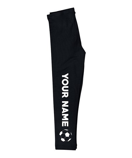 fac60fb053171 love this product Black Soccer Ball Personalized Leggings - Infant, Toddler  & Girls