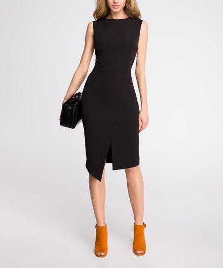 97d364d9400 Stylove Clothing Black Asymmetrical-Hem Sheath Dress - Women