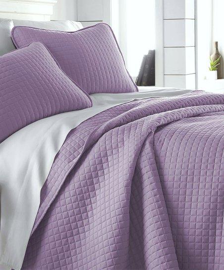 Southshore Fine Linens Lavender Solid Vilano Springs Quilt Set