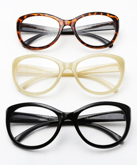 3671d54b3d56 Steve Madden Yellow & Black Tortoise Readers Set | Zulily