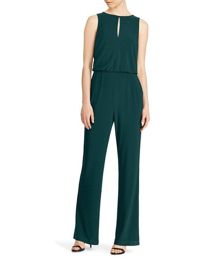 850cd59ef9b7 love this product Woodland Green Matte Jersey Sleeveless Jumpsuit - Women