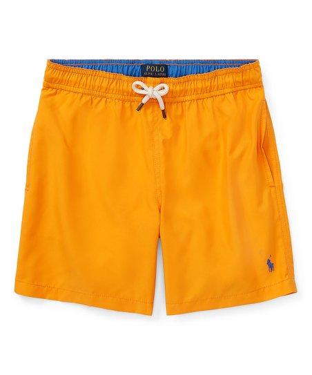 87a4409dd0b36 love this product Thai Orange Hawaiian Twill Swim Trunks - Toddler & Boys
