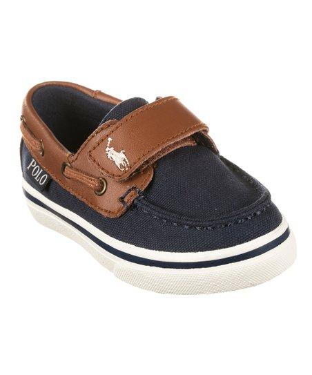 Tan Batten EZ Canvas Boat Shoe - Boys