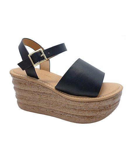 5b8792792f7d Wild Diva Black Kimiko Platform Sandal