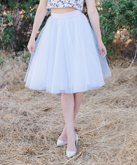 129454475 Space 46 Boutique Ocean Blue Signature Tulle Skirt - Women | Zulily