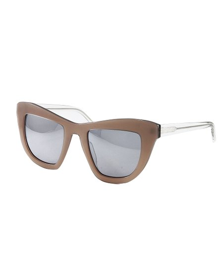 fdfe6f7882dea love this product Blush   Gray Mirror Oversize Cat-Eye Sunglasses - Women
