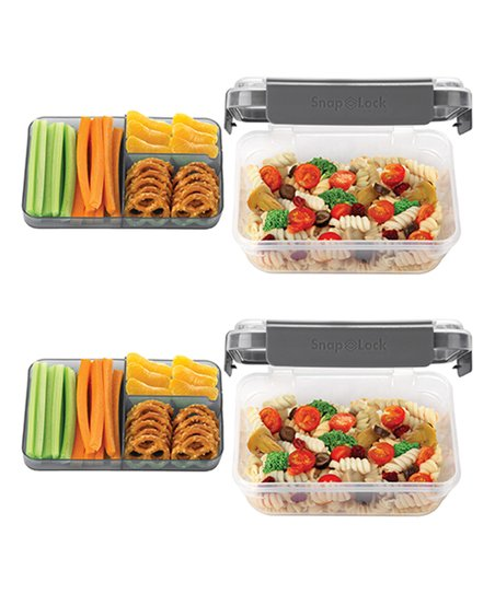 Gray 32 Oz. Bento Box To Go   Set Of Two by Progressive