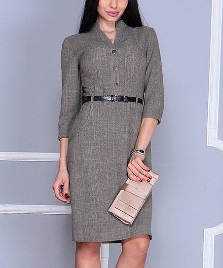 a2e9fb2e753 Laura Bettini Beige Belted Shirt Dress - Women