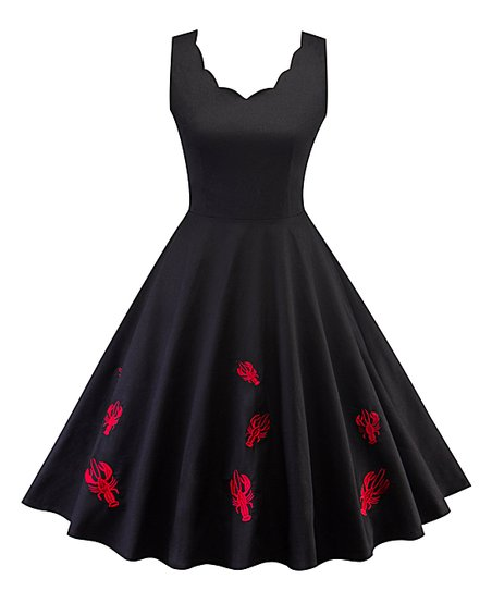 6a832f49346 love this product Black   Red Lobster Fit   Flare Dress - Women