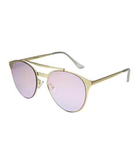 2c1f345e30 love this product Gold   Pink Mirror Modified Aviator Sunglasses