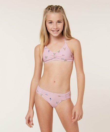 cd7cbf6c32ab1 love this product Pink Cacti Bralette   Swim Bottoms Set - Girls