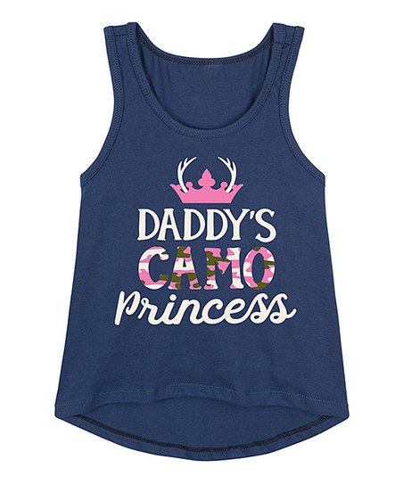 Instant Message Navy Daddys Camo Princess Hi Low Tank Toddler Zulily