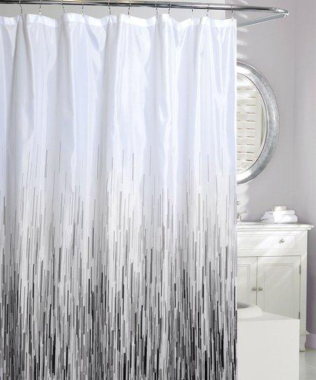 Gray Rain Shower Curtain