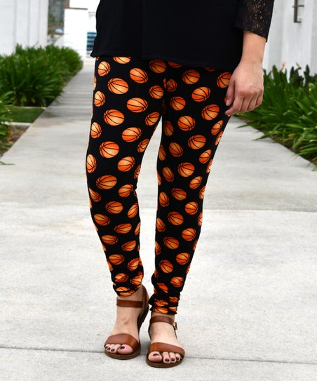Beary Basics Black Orange Basketball Leggings Best Price And Reviews Zulily