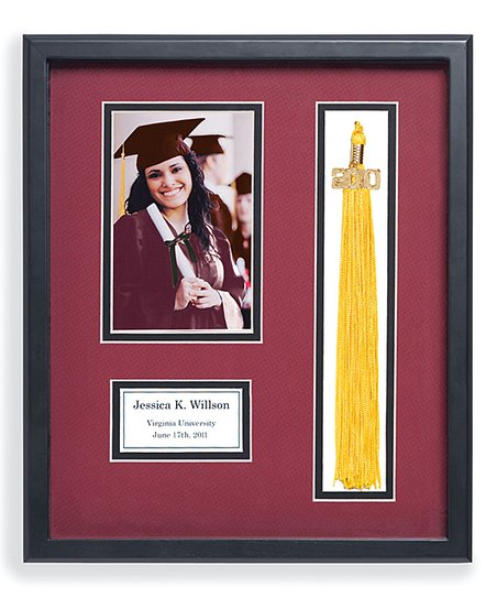 Personal Creations Burgundy Mat Graduation Personalized Tassel Frame