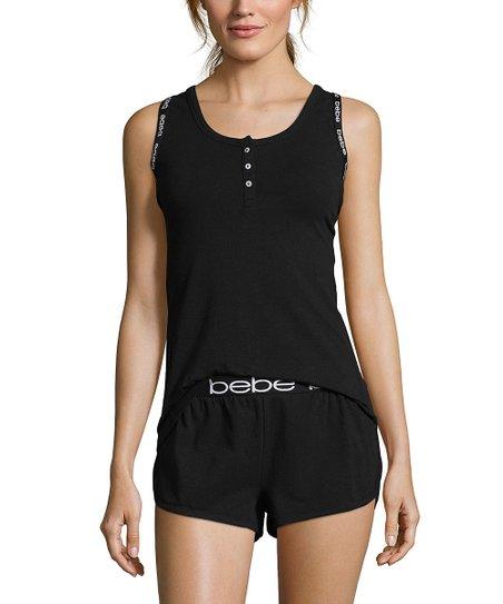 love this product Black Button-Front Pajama Set - Women   Plus df781d57a