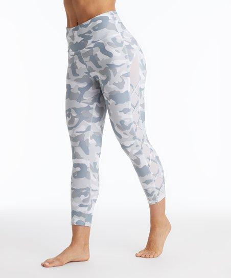 42dec374fdf42 love this product White & Gray Camo Crop Leggings - Women