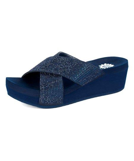 74d9922b65b6c7 Yellow Box Shoes Navy Maxima Sandal - Women