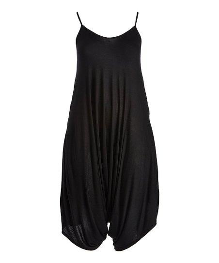 5924e876ef love this product Matte Black Harem Jumpsuit - Plus