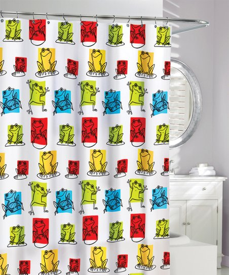 Love This Product Red Green Orange Pond Frogs Shower Curtain