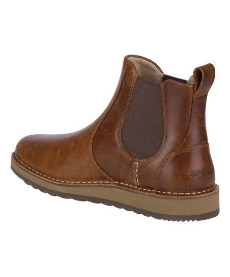 Tan Dockyard Leather Chelsea Boot - Men